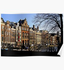 Streetscape, Amsterdam Poster