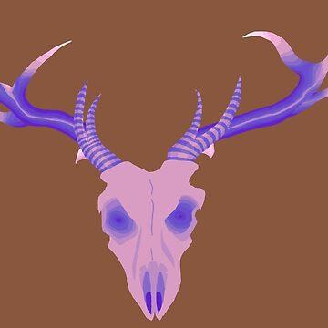 Deer Skull by mollyisrad