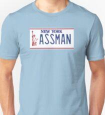 Cosmo Kramer Seinfeld Assman New York NY plate Unisex T-Shirt