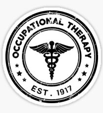 Occupational Therapy Vintage Stamp Sticker