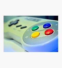 SNES Game Pad Photographic Print