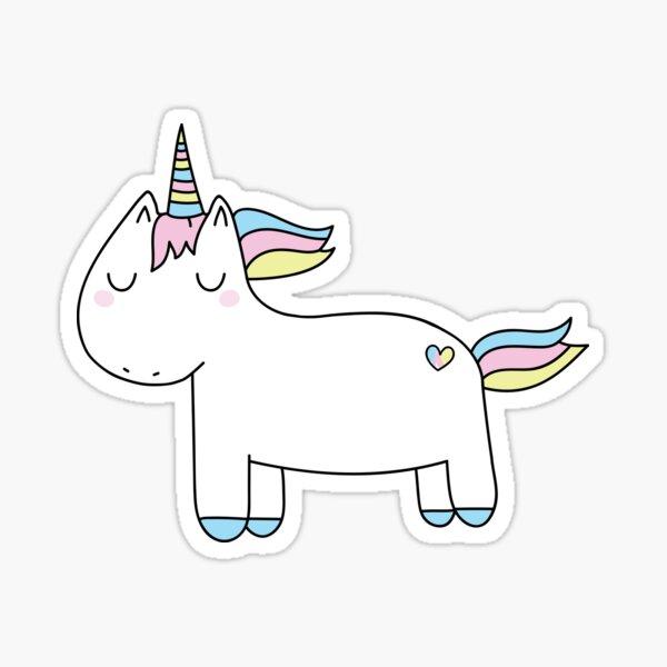 Pastel unicorn. Sticker