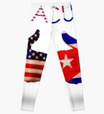 Cuba & USA - Thumbs Up Leggings