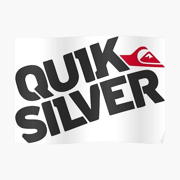 Quiksilver Wave & Mountain Edition (Premium Designer - Dark Grey, Bright Red) - Useless Madala Poster