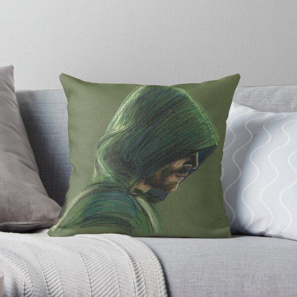 Green Arrow Throw Pillow