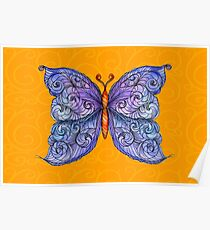The Cosmic Purple Butterfly Poster