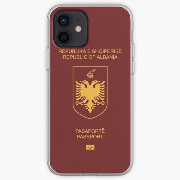 Passeport albanais Coque souple iPhone