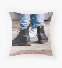 Dr Boots - Colour Throw Pillow