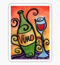Vino - the Wine Lover Sticker