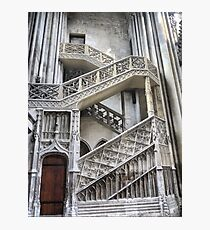 Cathedrale Notre Dame de Rouen (6) The Staircase Photographic Print