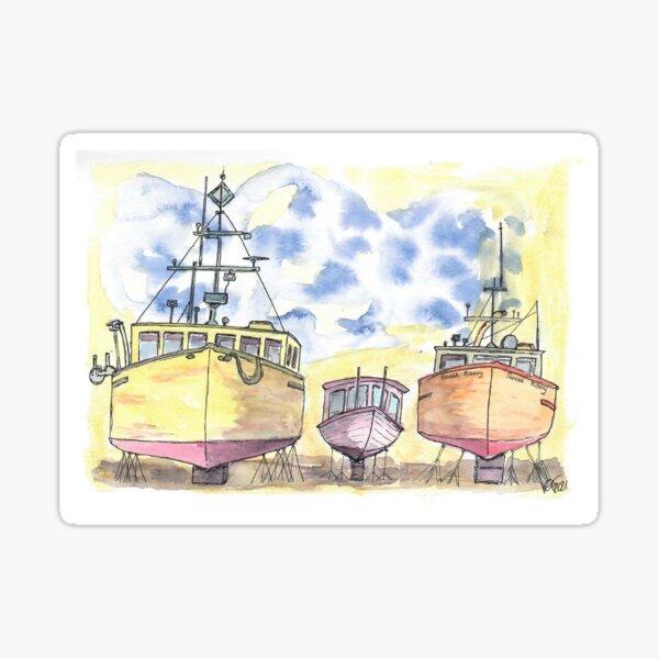 Drei Boote Sticker