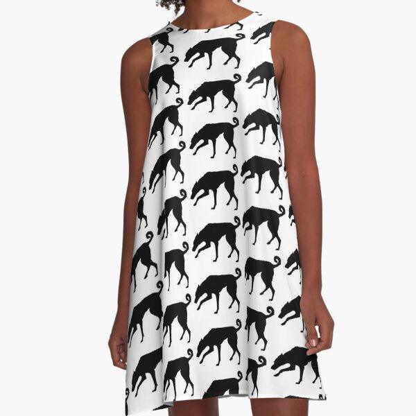 Cretan Hound Silhouette A-Line Dress