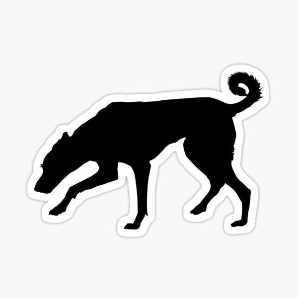Cretan Hound Silhouette Sticker