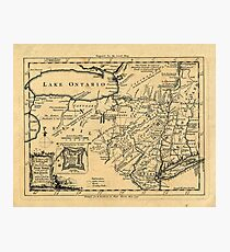 Map Of Lake Ontario 1756 Photographic Print