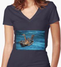 adrift Women's Fitted V-Neck T-Shirt