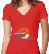 Pokemon Beach Tee Women's Fitted V-Neck T-Shirt
