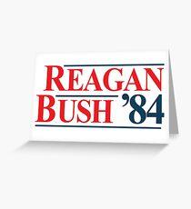 Legendary Regan Bush 84 Campaign Greeting Card