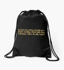 "We must use time... ""Nelson Mandela"" Inspirational Quote Drawstring Bag"