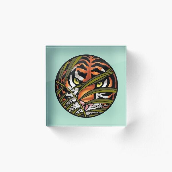 Tiger - in the shadows Acrylic Block