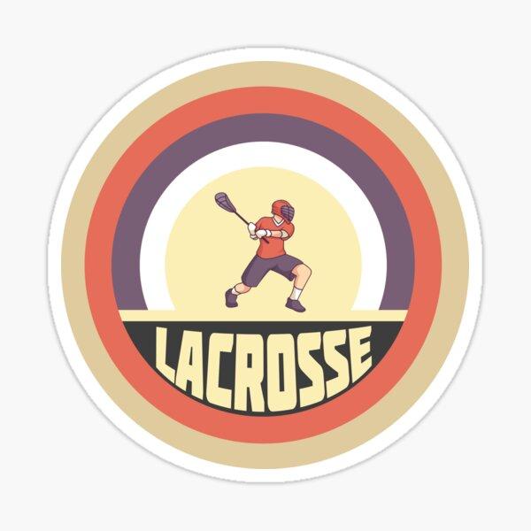 Lacrosse Vintage Design Sticker