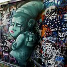 Street Art -  Melbourne Union Lane - Green Goblin  by bekyimage