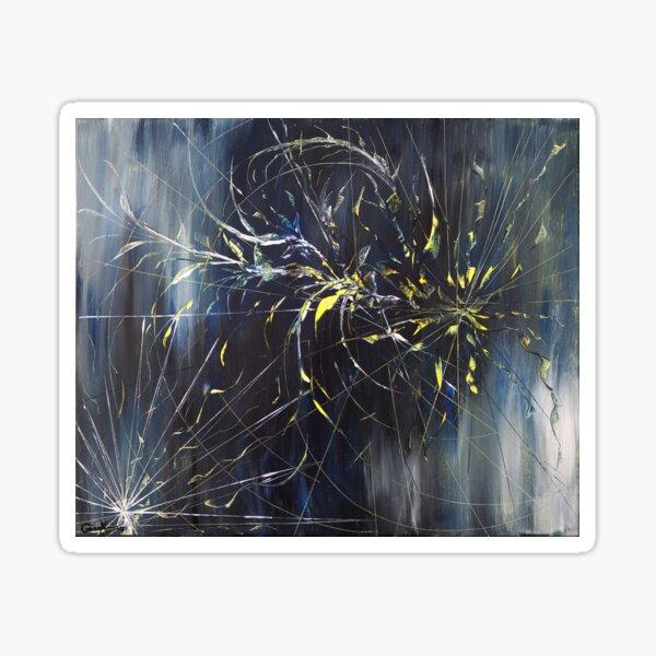 Abstrakt schwarz blau gelb Sticker