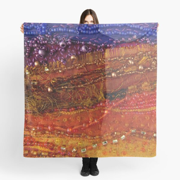 Textile Art Abstract Landscape Scarf