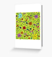 Summer pattern. Greeting Card