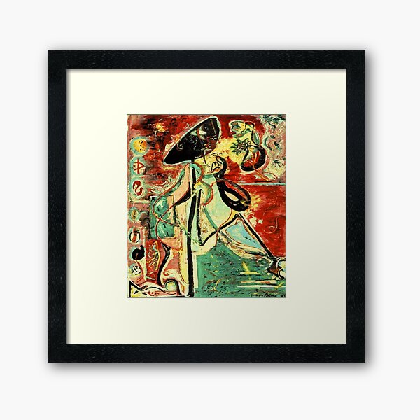 Moon Woman by Jackson Pollock Framed Art Print