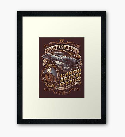 Capt. Mal's Cargo Delivery Framed Print