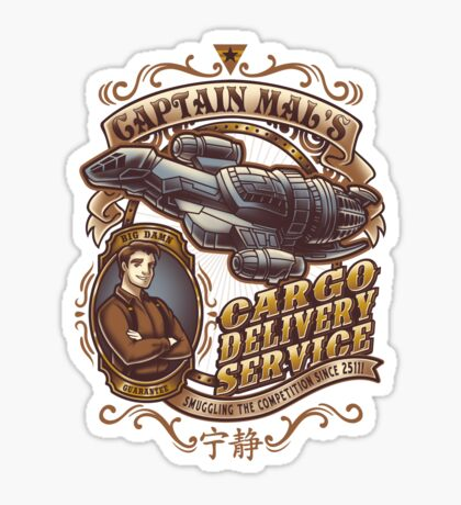Capt. Mal's Cargo Delivery Sticker