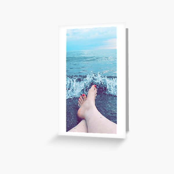 Feet in the Sand Greeting Card
