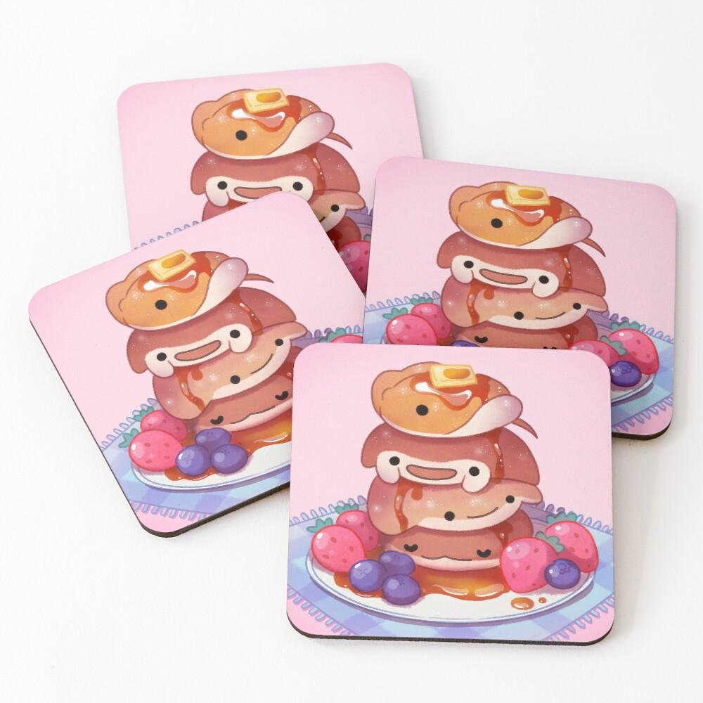 Fluffy sea pancakes Coasters (Set of 4)