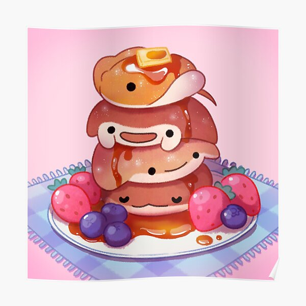 Fluffy sea pancakes Poster