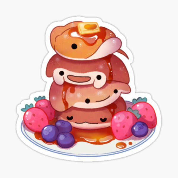 Fluffy sea pancakes Sticker