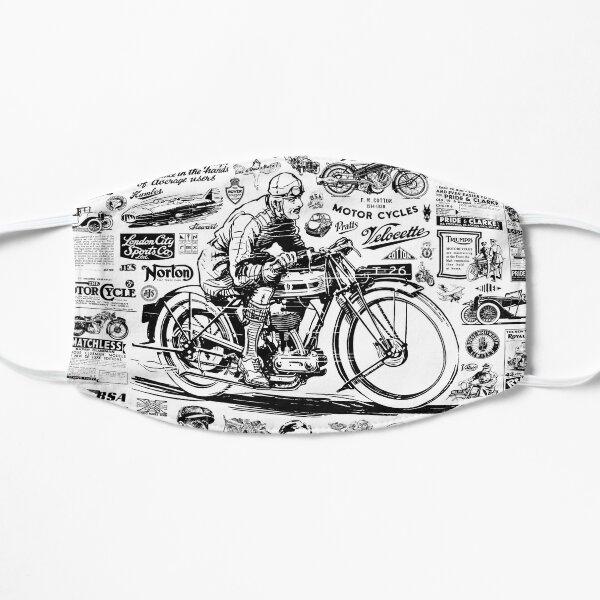 Montage moto des années 1900 aux années 1960 Masque sans plis