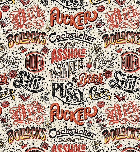 Naughty Words by lettershoppe