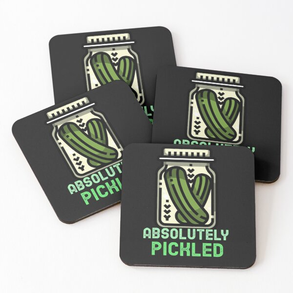 Absolutely pickled Coasters (Set of 4)
