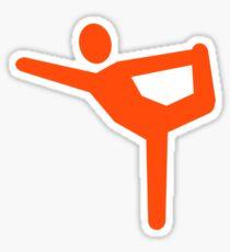 Yoga gymnastics symbol Sticker