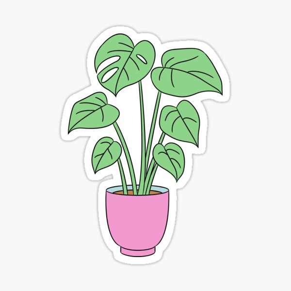 Comic Potted Plant Sticker