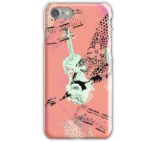 Musical Memories 5 Faux Chine Colle Monoprint Var 1 iPhone Case/Skin