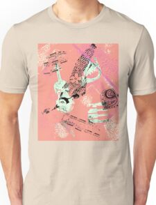 Musical Memories 5 Faux Chine Colle Monoprint Var 1 Unisex T-Shirt