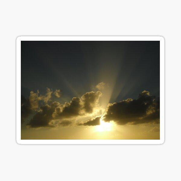 Light through the clouds Sticker