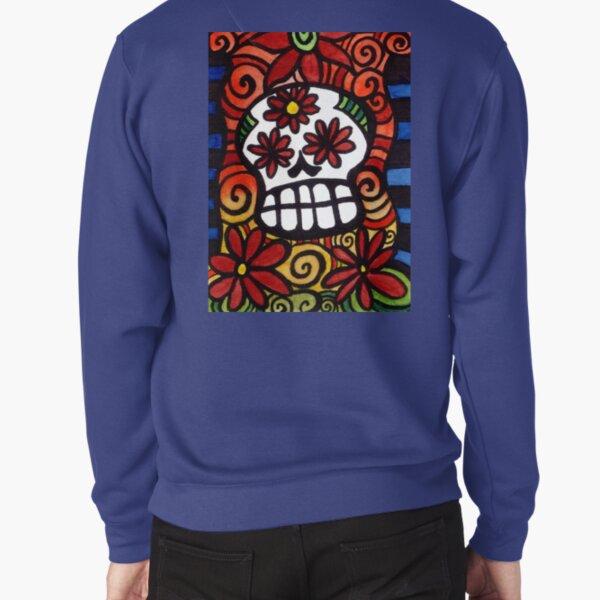 Flower Eyed Day of the Dead Sugar Skull Pullover Sweatshirt