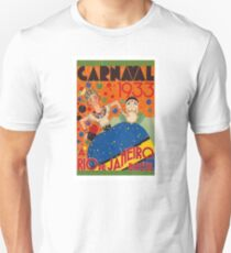 Brazil Carnival 1933 Vintage World Travel Poster by Renato T-Shirt