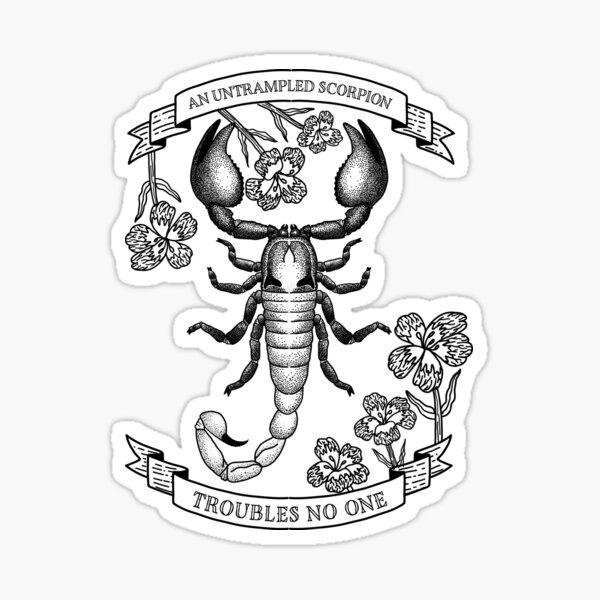 Zodiac Tattoo Series - Scorpio Sticker
