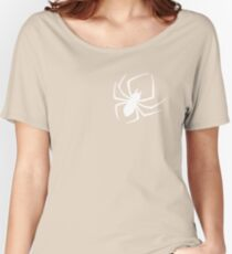 Cool Spider Silhouette Print Novelty Graphic Women's Relaxed Fit T-Shirt