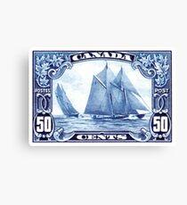 1929 Canada Schooner Bluenose Postage Stamp Canvas Print