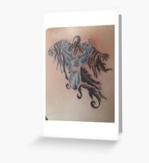 Dementors and Stag tattoo Greeting Card