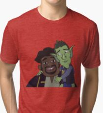 HarmonQuest: Rib Sanchez and Boneweevil Tri-blend T-Shirt